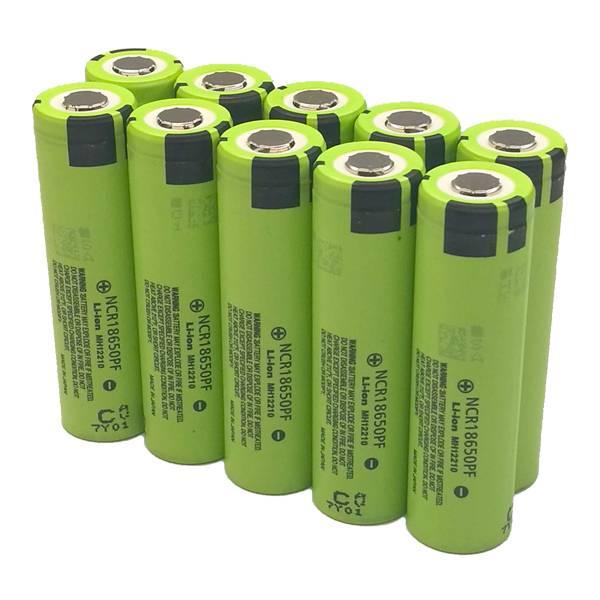 Комплект из 10 аккумуляторов Panasonic NCR18650PF
